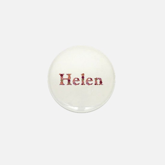 Helen Pink Flowers Mini Button