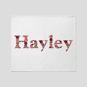 Hayley Pink Flowers Throw Blanket