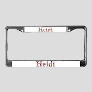 Heidi Pink Flowers License Plate Frame