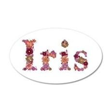 Iris Pink Flowers Wall Decal