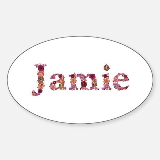 Jamie Pink Flowers Oval Decal