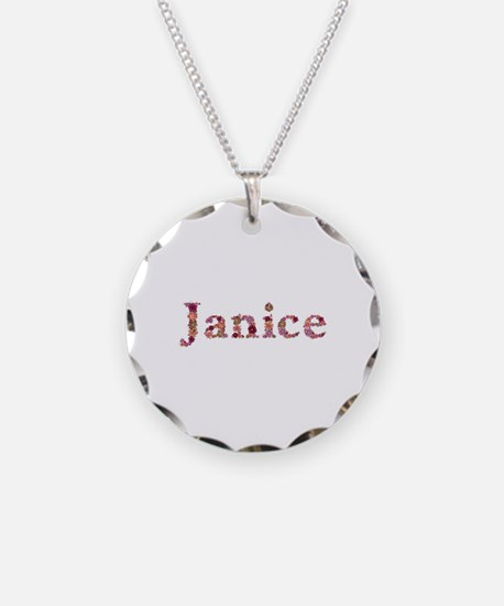 Janice Pink Flowers Necklace