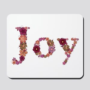Joy Pink Flowers Mousepad