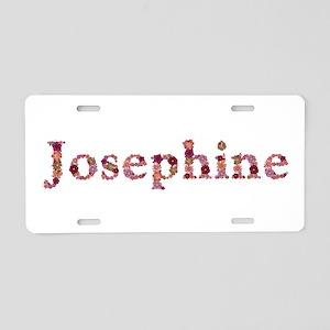 Josephine Pink Flowers Aluminum License Plate