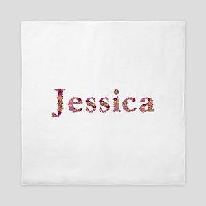 Jessica Pink Flowers Queen Duvet