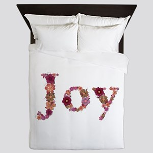 Joy Pink Flowers Queen Duvet