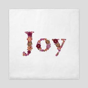 Joy Pink Flowers Queen Duvet