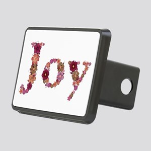 Joy Pink Flowers Rectangular Hitch Cover