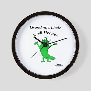Grandma's Little Chili Pepper Wall Clock
