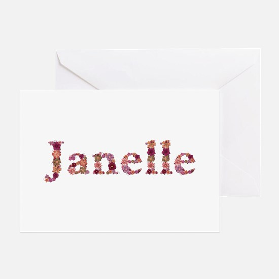 Janelle Pink Flowers Greeting Card
