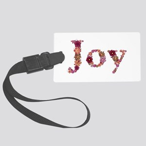 Joy Pink Flowers Large Luggage Tag