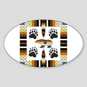BEAR PRIDE SYMBOLS Oval Sticker