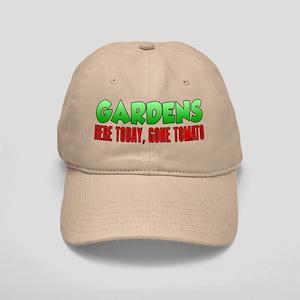Gardens Here Today Gone Tomato Baseball Cap