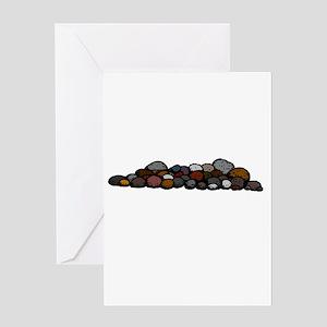 Pile of Rocks Greeting Cards