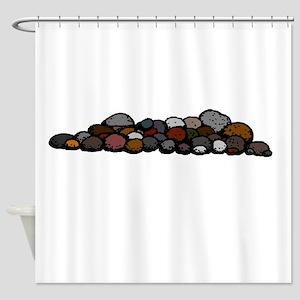 Pile of Rocks Shower Curtain