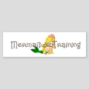 Mermaid in Training Sticker (Bumper)