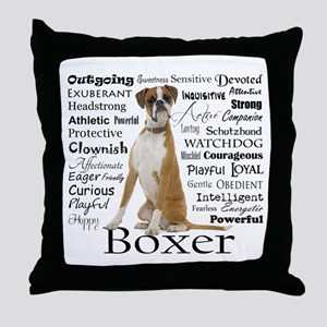 Boxer Traits Throw Pillow