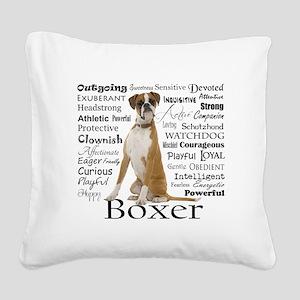 Boxer Traits Square Canvas Pillow