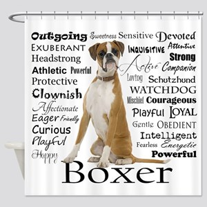 Boxer Traits Shower Curtain