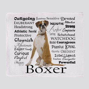 Boxer Traits Throw Blanket