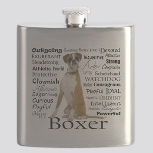 Boxer Traits Flask