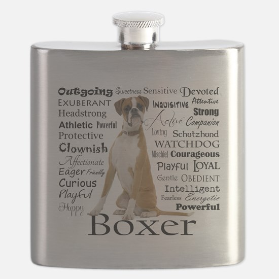 Boxer Traits Flask