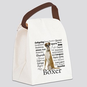 Boxer Traits Canvas Lunch Bag