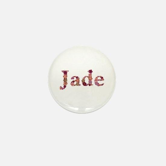 Jade Pink Flowers Mini Button