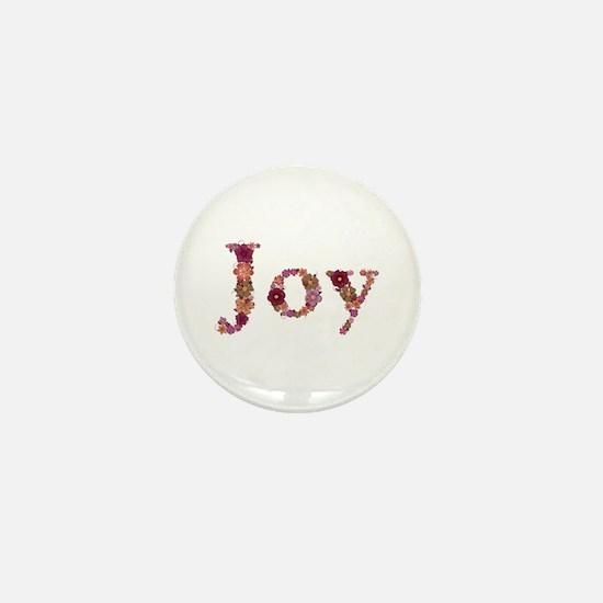 Joy Pink Flowers Mini Button