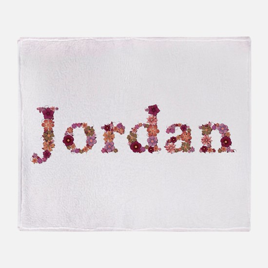 Jordan Pink Flowers Throw Blanket