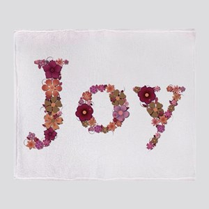 Joy Pink Flowers Throw Blanket