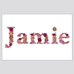 Jamie Pink Flowers Large Poster