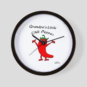 Grandpa's Little Chili Pepper Wall Clock