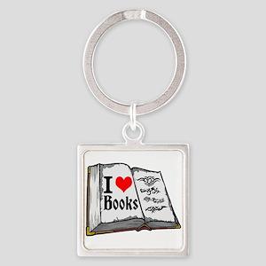 I heart books Keychains