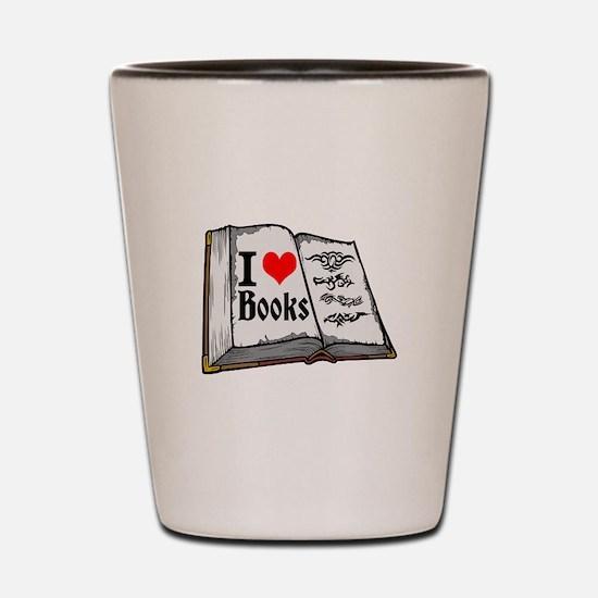 I heart books Shot Glass
