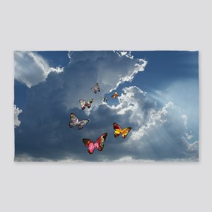 Butterfly Clouds 3'x5' Area Rug