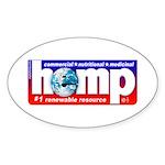 AAA Hemp Oval Sticker