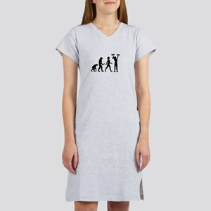 Female Weightlifter Evolution Women's Nightshirt