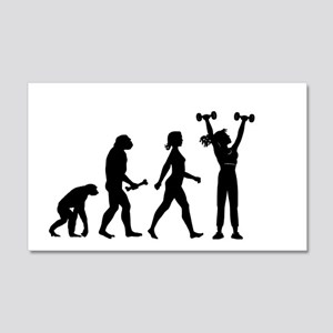 Female Weightlifter Evolution Wall Decal