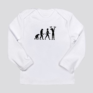 Female Weightlifter Evolution Long Sleeve T-Shirt