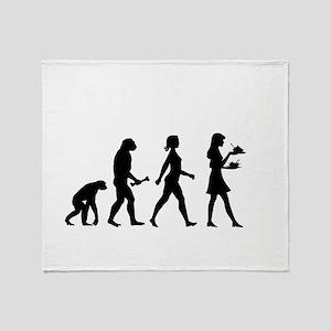 Waitress Evolution Throw Blanket