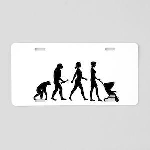 Mom Evolution Aluminum License Plate
