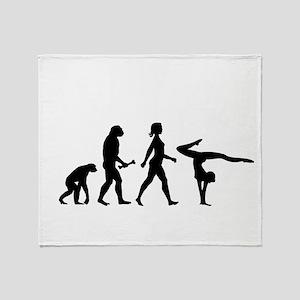 Gymnast Evolution Throw Blanket