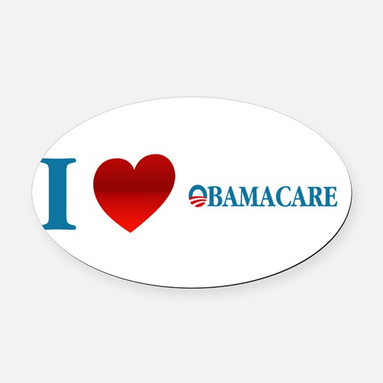 Cute Obama 2012 Oval Car Magnet