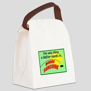 A Golfer Needs Sunshine Canvas Lunch Bag