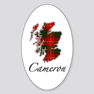 Can Cameron Scotland Map Oval Sticker