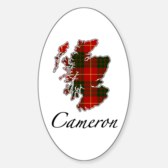 Can Cameron Scotland Map Oval Decal