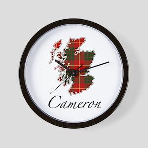 Can Cameron Scotland Map Wall Clock