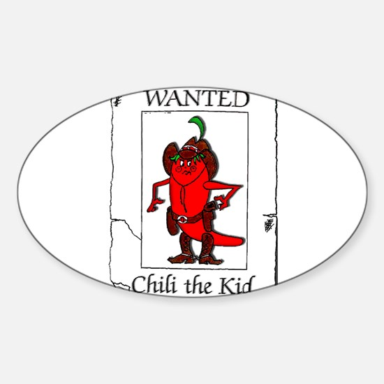 Chili the Kid Oval Decal