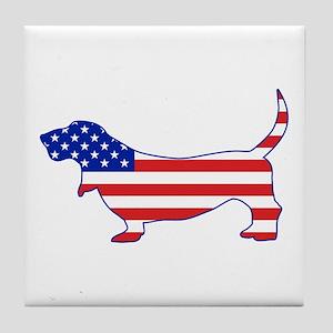 American Basset Tile Coaster